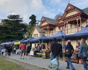 More than 1000 market-goers turned out to show their support for the Riccarton Bush market on...