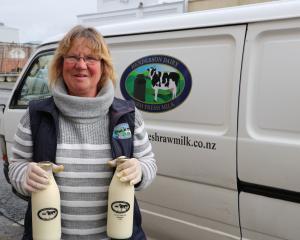 Bottled fresh ... Beth Henderson, of Henderson Dairy Farm Fresh Milk, has been busy delivering...