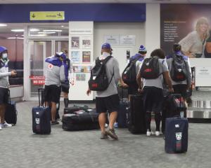 The Warriors arrive in Tamworth. Photo: Getty Images