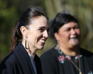Prime Minister Jacinda Ardern speaks to the media at Te Puia in Rotorua earlier this week. Photo:...