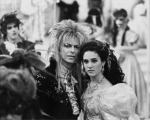 Stars align ... Actors David Bowie and Jennifer Connelly perform in a scene from the movie...