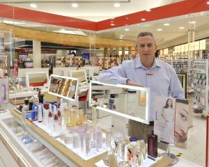 H&J Smith chief executive John Green in the Dunedin store in the Meridian Mall last week....