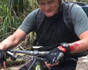 Tony Coll suffered a heart attack while mountain biking. Photo: Twitter