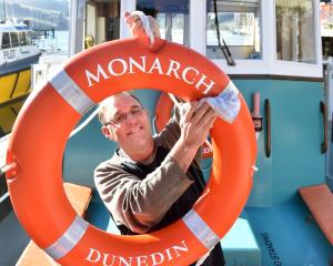 Anchors aweigh ... Monarch skipper Nigel Young will be cruising again this weekend. PHOTO: PETER...