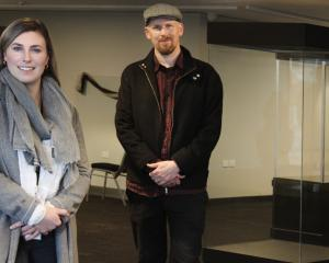 Co-managers Gemma Baldock and David Dudfield at the He Waka Tuia Art +  Museum in Invercargill.