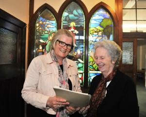 Otago Pioneer Women's Memorial Association secretary Irene Mosley (left) and president Jean Park...