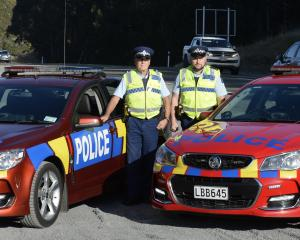 Senior Constable Marty Van Elst (left) and Acting Sergeant Richard Kupenga, of Dunedin, are...