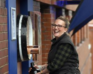 Speight's Brewery venue manager Rosie Shanks is excited the water from the brewery's freshwater...