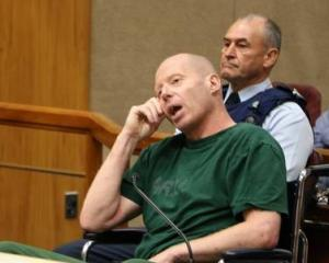 Russell John Tully on trial in the High Court at Christchurch. Photo: Pool