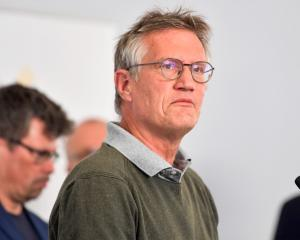 Anders Tegnell speaks in Stockholm during a daily news conference on coronavirus. Photo: TT News...
