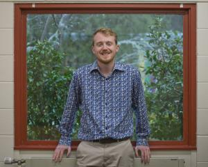 New Zealand Climate Change Commission analyst Ben Abraham visited his former school Logan Park...
