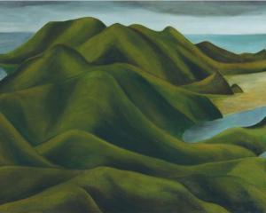 Otago Peninsula 1946-49, by Colin McCahon.