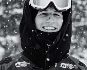 Wanaka free- skier Craig Murray is all smiles before barrelling down a mountain. PHOTO: FREERIDE...