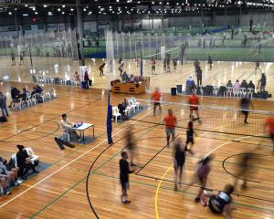 The Edgar Centre hosts volleyball on Monday night as it cranks back into life. PHOTO: STEPHEN...