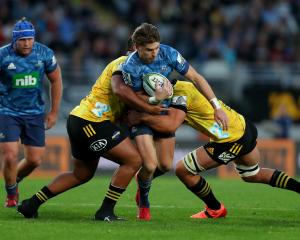Beauden Barrett made his debut for the Blues against his former team. Photo: Getty Images
