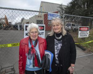 Janice Moss (left) and Betty Chapman outside the Wainoni Methodist Church. Photo: Geoff Sloan