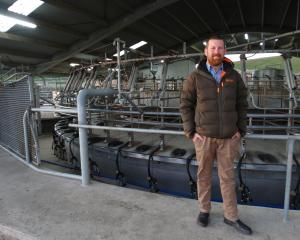 Avon Glen farm manager Sven Thelning outside the Enfield dairy farm's milking shed. PHOTO: DANIEL...
