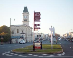 Oamaru's town centre could change dramatically by Christmas. PHOTO: REBECCA RYAN
