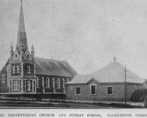 The Presbyterian church and Sunday school, Palmerston. — Otago Witness, 