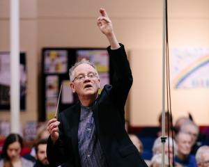 Kenneth Young conducts the Southern Sinfonia during the Star Regent Variety Concert at the Regent...
