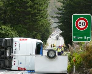 Carnage ... Emergency services at the scene of the serious crash on Queenstown-Glenorchy Rd last...