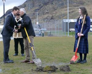 Wakatipu High School principal Steve Hall performs a hongi with Oraka Aparima runaka general...