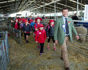 Promoting wool to young people is something that Tim Black is passionate about. 