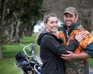 Rachel Davison models the rare green diamond ring husband Chris won in a national competition....