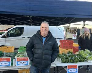 Janefield Paeonies & Hydroponics co-owner Roger Whitson was pleased to reconnect with market...