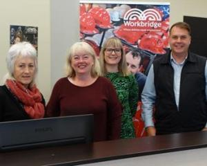 The Dunedin-based Workbridge team, (from left) team leader Mandy Johnstone and employment...
