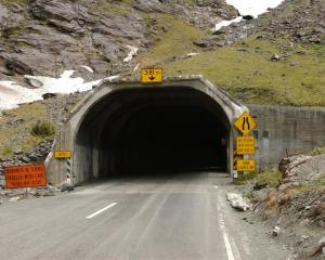 The eastern portal of the Homer Tunnel. Photo by Craig Baxter.