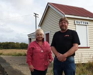 Strath Taieri Heritage Park concept development team members Jacquie Lucas and Richard Emerson...