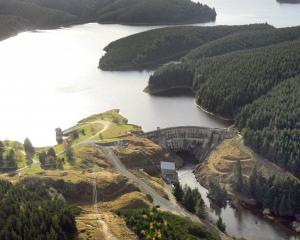 Waipori Dam, Otago, one of Trustpower's 44 hydro-electric facilities. Trustpower recently lowered...