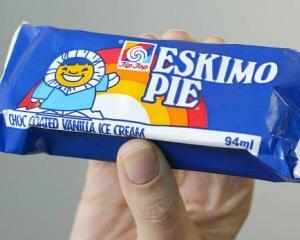 A Tip Top Eskimo Pie ice cream in its wrapper. Photo: NZH File