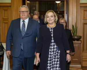 New National Party leader Judith Collins and her deputy Gerry Brownlee lead in their colleagues...