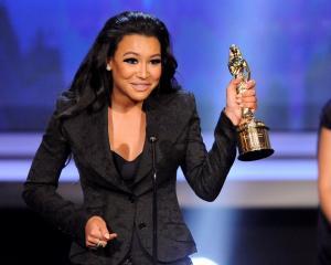 Naya Rivera accepts an award at the National Council of La Raza ALMA Awards in ...