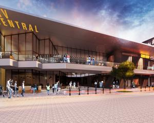 An artist's impression of the Esk St entry to Invercargill's proposed new CBD precinct. Image:...