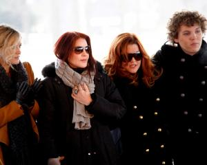 The Presley family Riley Keough, Priscilla Presley, Lisa Marie Presley and Benjamin Keough in...
