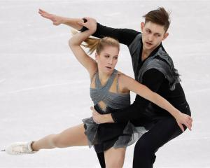 Ekaterina Alexandrovskaya and Harley Windsor in action at the 2018 Pyeongchang Winter Olympics....