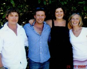 Scott Guy (second from left) and his siblings Callum, Nikki and Anna. Photo: Supplied via NZH