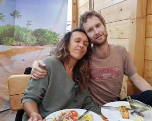 Lilia Rossana pictured with her husband, Jacob Macek, about a week before he died. Photo: Supplied