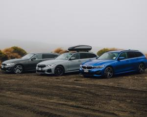 The new 3 Series Touring BMW parked up off the Desert  Rd, North Island.
