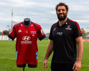 Whitelock is putting his match jersey up for auction to raise funds for Farmstrong. Photo: Supplied