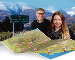 Videographer/Photographer Craig Baxter and reporter Daisy Hudson hit the road. Graphic: ODT