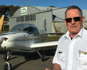 Ashburton Aviation Pioneers flying instructor Ron McFarlane. Photo Toni Williams