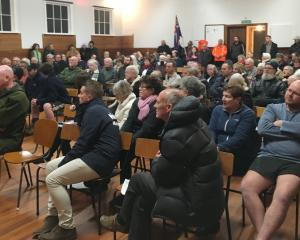 About 120 people filled the Brighton Community Hall last night as Dunedin City Council staff...