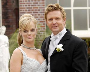 Toni Thompson (Laura Hill) became Chris Warner's (Michael Galvin) fourth wife in 2005. Photo:...