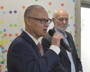 Minister of Health David Clark and Dunedin Hospital rebuild convener Pete Hodgson announce the...