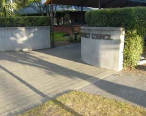 Entrance to the Central Otago District Council building. Photo by ODT.
