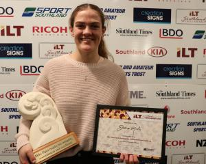 Shakira Mirfin winner of the Mike Piper Trophy for commitment, integrity and excellence at the...